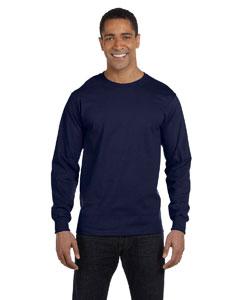 Navy 5.2 oz. ComfortSoft® Cotton Long-Sleeve T-Shirt
