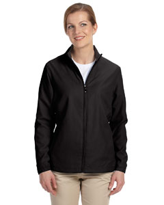 Black Women's Full-Zip Lined Wind Jacket