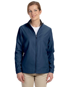 Navy Women's Full-Zip Lined Wind Jacket