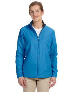 Azure Women's Full-Zip Lined Wind Jacket
