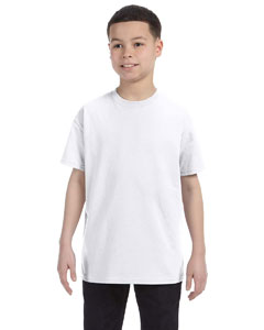 White Youth 6.1 oz. Tagless® T-Shirt