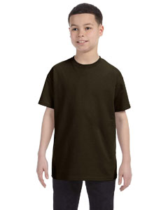 Dark Chocolate Youth 6.1 oz. Tagless® T-Shirt