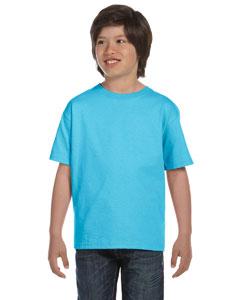 Light Blue Youth 5.2 oz. ComfortSoft® Cotton T-Shirt