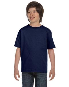 Navy Youth 5.2 oz. ComfortSoft® Cotton T-Shirt
