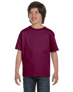 Maroon Youth 5.2 oz. ComfortSoft® Cotton T-Shirt
