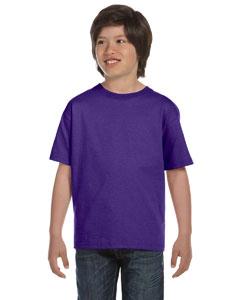 Purple Youth 5.2 oz. ComfortSoft® Cotton T-Shirt