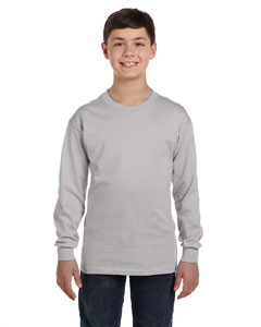 Light Steel Youth 6.1 oz. Tagless® ComfortSoft® Long-Sleeve T-Shirt