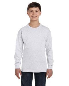 Ash Youth 6.1 oz. Tagless® ComfortSoft® Long-Sleeve T-Shirt