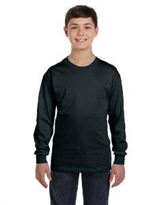 Black Youth 6.1 oz. Tagless® ComfortSoft® Long-Sleeve T-Shirt