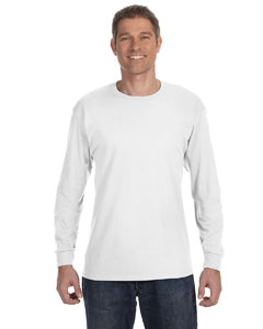 White 6.1 oz. Tagless® ComfortSoft® Long-Sleeve T-Shirt