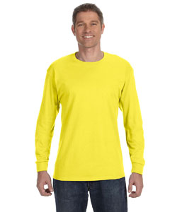Yellow 6.1 oz. Tagless® ComfortSoft® Long-Sleeve T-Shirt