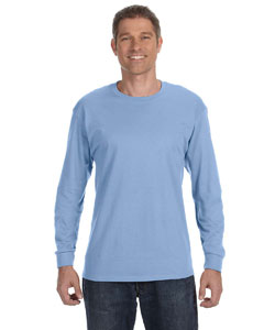 Light Blue 6.1 oz. Tagless® ComfortSoft® Long-Sleeve T-Shirt
