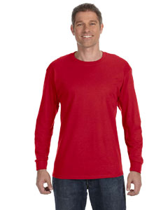 Deep Red 6.1 oz. Tagless® ComfortSoft® Long-Sleeve T-Shirt