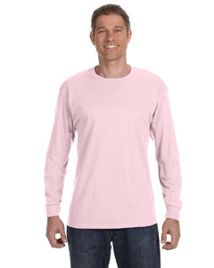 Pale Pink 6.1 oz. Tagless® ComfortSoft® Long-Sleeve T-Shirt