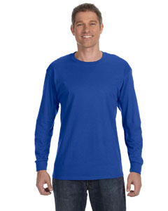 Deep Royal 6.1 oz. Tagless® ComfortSoft® Long-Sleeve T-Shirt