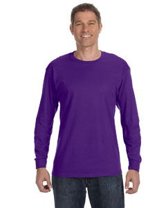 Purple 6.1 oz. Tagless® ComfortSoft® Long-Sleeve T-Shirt