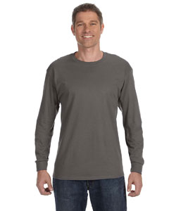 Smoke Gray 6.1 oz. Tagless® ComfortSoft® Long-Sleeve T-Shirt