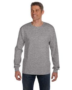 Light Steel 6.1 oz. Tagless® ComfortSoft® Long-Sleeve Pocket T-Shirt