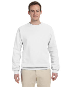 White 8 oz., 50/50 NuBlend® Fleece Crew