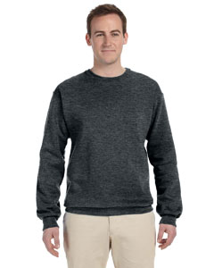 Black Heather 8 oz., 50/50 NuBlend® Fleece Crew
