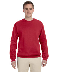 True Red 8 oz., 50/50 NuBlend® Fleece Crew