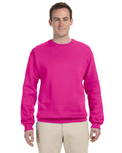 Cyber Pink 8 oz., 50/50 NuBlend® Fleece Crew