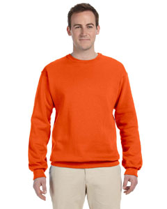 Safety Orange 8 oz., 50/50 NuBlend® Fleece Crew