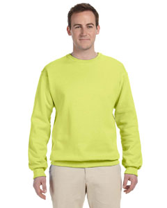 Safety Green 8 oz., 50/50 NuBlend® Fleece Crew