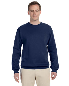 J Navy 8 oz., 50/50 NuBlend® Fleece Crew
