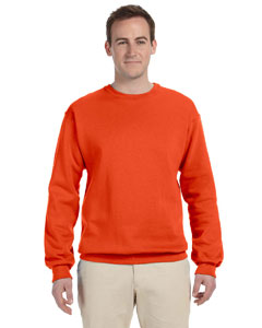 Burnt Orange 8 oz., 50/50 NuBlend® Fleece Crew