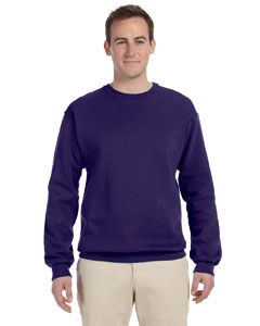 Deep Purple 8 oz., 50/50 NuBlend® Fleece Crew