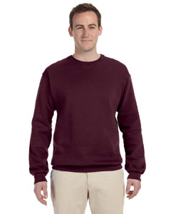 Maroon 8 oz., 50/50 NuBlend® Fleece Crew