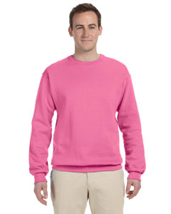Neon Pink 8 oz., 50/50 NuBlend® Fleece Crew