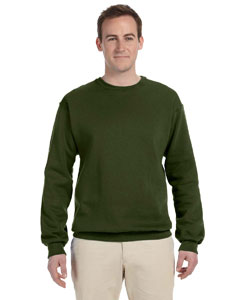 Military Green 8 oz., 50/50 NuBlend® Fleece Crew