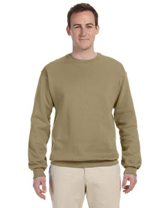 Khaki 8 oz., 50/50 NuBlend® Fleece Crew