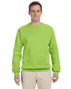 Neon Green 8 oz., 50/50 NuBlend® Fleece Crew