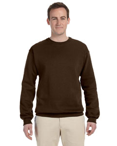Chocolate 8 oz., 50/50 NuBlend® Fleece Crew