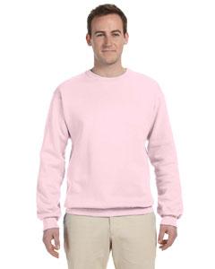 Classic Pink 8 oz., 50/50 NuBlend® Fleece Crew
