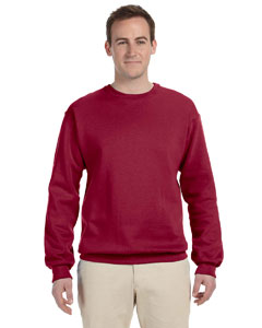 Crimson 8 oz., 50/50 NuBlend® Fleece Crew