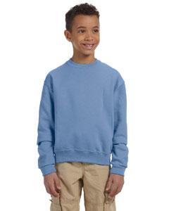 Light Blue Youth 8 oz., 50/50 NuBlend® Fleece Crew