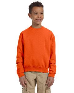 Safety Orange Youth 8 oz., 50/50 NuBlend® Fleece Crew