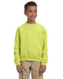 Safety Green Youth 8 oz., 50/50 NuBlend® Fleece Crew