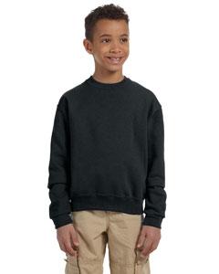 Black Youth 8 oz., 50/50 NuBlend® Fleece Crew