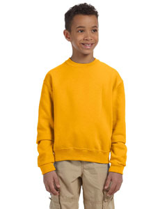 Gold Youth 8 oz., 50/50 NuBlend® Fleece Crew