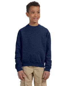 J Navy Youth 8 oz., 50/50 NuBlend® Fleece Crew