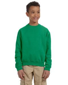 Kelly Youth 8 oz., 50/50 NuBlend® Fleece Crew