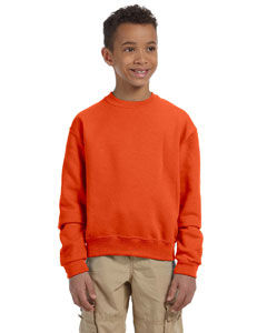 Burnt Orange Youth 8 oz., 50/50 NuBlend® Fleece Crew
