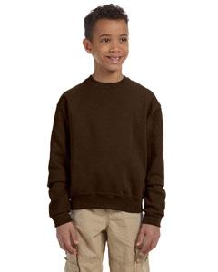 Chocolate Youth 8 oz., 50/50 NuBlend® Fleece Crew