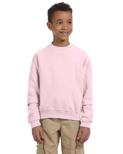 Classic Pink Youth 8 oz., 50/50 NuBlend® Fleece Crew