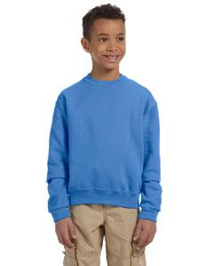 Columbia Blue Youth 8 oz., 50/50 NuBlend® Fleece Crew